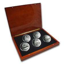 2010 5 oz Silver ATB Complete 5 Coin Set - with Display Box - SKU #64299