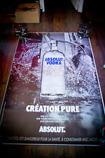 ABSOLUT VODKA 4x6 ft Bus Shelter Original Alcohol Advertising Poster