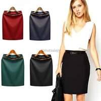 New Ladies Womans Stretch Bodycon Scuba Pencil Mini Party Skirt Size S,M,L,XL