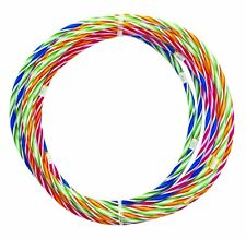 10 x 55cm Stripes Hula Hoops Kids Adults Outdoor Games Play Fitness Garden Fun
