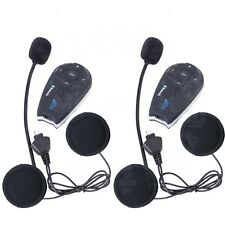 2pcs BT 1200m Moto Bluetooth Intercom Casco Interconmunicador Helmet 5 Riders+FM