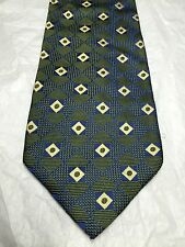 CLUB ROOM MEN'S TIE GREEN BLUE AND YELLOW DESIGN