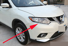 Chrome Head Light Eyelid Cover Trim for 2014-2016 Nissan X-Trail Rogue ABS