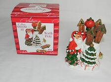 AMBIANCE COLLECTIONS 5 pc NORTH POLE SPREADER SET HOLIDAY CHRISTMAS SANTA CLAUS