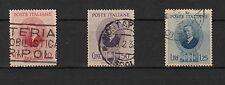 Regno Italia 1938 Serie Usata Guglielmo Marconi 3 Val Sassone 436/8