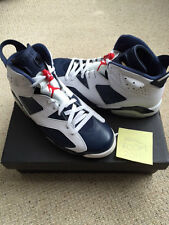 Nike Air Jordan 6 Retrò Olympic Bianco/Midnight Navy Brand New UK 10 Stati Uniti 11