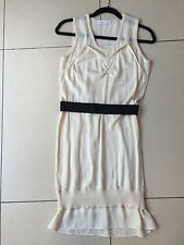 See By Chloe Knitted And Silk Dress Uk 8