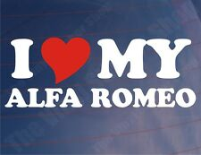 I LOVE/HEART MY ALFA ROMEO Novelty Car/Window/Bumper/Laptop Vinyl Sticker/Decal