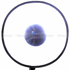 44cm Easy-fold Round Flash Softbox Diffuser Reflector for Canon Pentax Speedlite