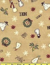 Red Rooster Fabrics 100 % Cotton  Christmas Whimsy 25208 bei   By The Yard