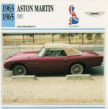 1963-1965 ASTON MARTIN DB5 #2 Classic Car Photo/Info Maxi Card