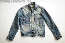 PRPS Japenese Denim Chore Jacket Trucker Buckled Back Jean Wash size Small S