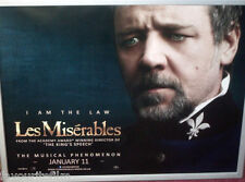 Cinema Poster: LES MISERABLES 2013 (Javert Quad) Russell Crowe Amanda Seyfried