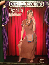 WOMENS/LADIES BRAND NEW TIGER LILY INDIAN COSTUME CINEMA SECRETS LARGE 4 PIECES