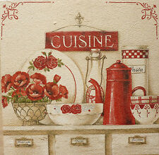 Cuisine Dresser Flower Pot Kitchen Chic Vintage Shabby Picture Plaque Home Sign