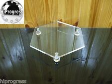 """Clear Acrylic Hexagon Riser Tray Stand Display Holder for Cake Jewelry 10""""X8.5"""""""