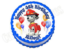 Paw Patrol Marshall **ROUND** edible cake image frosting sheet topper