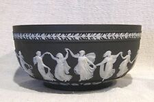 "19th Century Wedgwood Black Jasperware Dancing Hours 7 7/8"" Bowl"