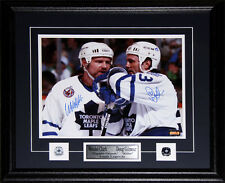 Doug Gilmour & Wendel Clark Toronto Maple Leafs signed 11x14 frame