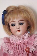 """perruque Mohair poupée Bleuette-17/17.5cm-Fait en FRANCE- Mohair doll wig Sz6/7"""""""