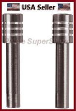 New Set Metal Billet Door Lock Knob Auto/Car/Truck/SUV/RV Charcoal/Chrome Finish