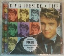 "LIVE [Limited Edition - Poster] by ELVIS PRESLEY (Audio CD) BRAND NEW, ""SEALED"""