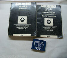 1991 DODGE GRAND CARAVAN VOYAGER TOWN & COUNTRY SERVICE SHOP REPAIR MANUAL SET