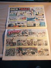 Vintage 1958 WNY Sunday Comics Insert Excellent Condition Dick Tracy Smitty Reb