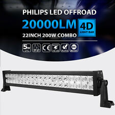 22INCH 200W LED Work Light Bar Spot Flood 4WD Boat Driving Truck Offroad VAN 24""