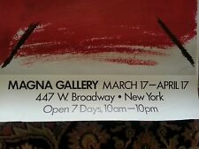 Tapies Signed Poster Magna Gallery 1950 20 X 32 original offset