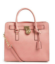 Michael Kors Hamilton Large Tote Saffiano Leather NS Shoulder bag pale pink NWT