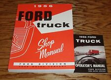 1956 Ford Truck Shop Service Manual & Owners Operators Manual 56