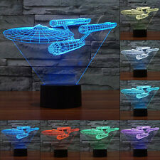 7Color Star Trek USS Enterprise 3D LED Night Light Touch Switch Table Desk Lamp