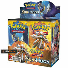 POKEMON CARDS: sole e luna sigillato Booster BOX - 36 Pack-solgaleo e lunala