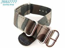 20mm Canvas Watch Strap Band Sports Military Army Pattern new camouflage ZULU