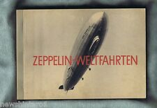 #YY. LARGE 1930s GERMAN BOOK WITH CARDS ON ZEPPELIN AIR SHIP