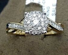 14k White Rose Gold Vintage Round Halo Diamonds Engagement Ring Bridal Set 1/3c