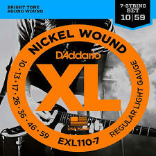 D'addario EXL110-7 Regular Light 7 String Electric Guitar Strings 10-59