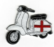 Iron On/ Sew On Embroidered Patch Badge Italian Scooter Lam Bike MOD St George