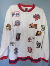 Nike NBA warm up jacket vintage sewn logos of all teams size Large