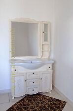 arredo bagno 105 cm avorio decape' con inserti swarovsky -mobile bagno decorato