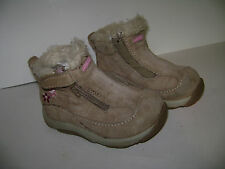 STRIDE RITE BELUGA TODDLER GIRLS SHOES BOOTS size 4.5 W TAN BROWN LEATHER