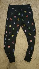 Men's XL Mighty Morphin POWER RANGERS Black Sweat Pants Loot Wear
