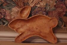 Brown Wooden Bunny Rabbit Serving Tray Dish Bowl Easter Tabletop Decor Wood
