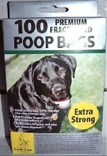 100 PREMIUM EXTRA STRONG  BLACK Doggy Poo Poop Bags FREE UK P+P
