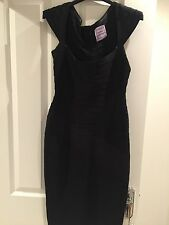 Womens Classic Black Herve Leger Dress Size Small