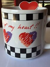 Russ Berrie I Love You From The Bottom Of My Heart Ceramic Coffee Mug 10 OZ