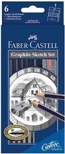 FABER-CASTELL - 6 GRAFITE MATITA SCHIZZO SET - 2H, HB, B, 2B, 4B e 6B