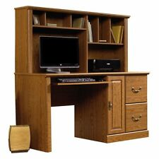 Sauder Orchard Hills Computer Desk with Hutch - Carolina, Oak