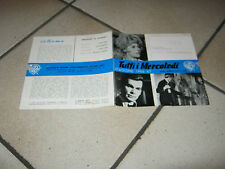 BROCHURE TUTTI I MERCOLEDI JANE FONDA D. JONES,MILLER ROBARDS 1967